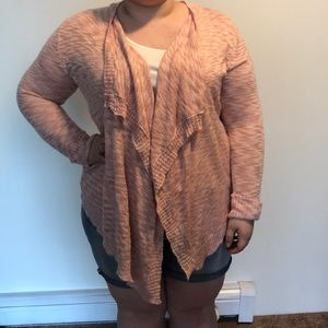 Pink Republic Open Front Cardigan